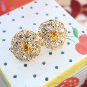 women crystal studs formal and party wear